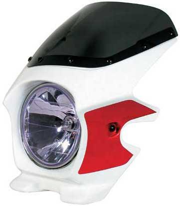 Nプロジェクト ブラスター2 エアロスクリーンビキニカウル CB1300SF ~02 パールフェイドレスホワイト/キャンディアラモアナレッドU (CB1100Rカラー)