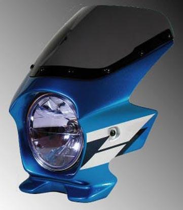 Nプロジェクト ブラスター2 エアロスクリーンビキニカウル CB1300SF 03~ グリントウェーブブルーメタリック(ウイングライン)