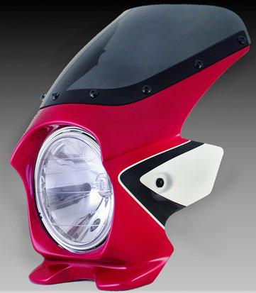 Nプロジェクト ブラスター2 エアロスクリーンビキニカウル CB400SF 08 キャンディブレイジングレッド(ツートン)