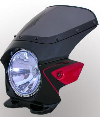 Nプロジェクト ブラスター2 エアロスクリーンビキニカウル CB400SF 08 グラファイトブラック/キャンディグローリーレッドU