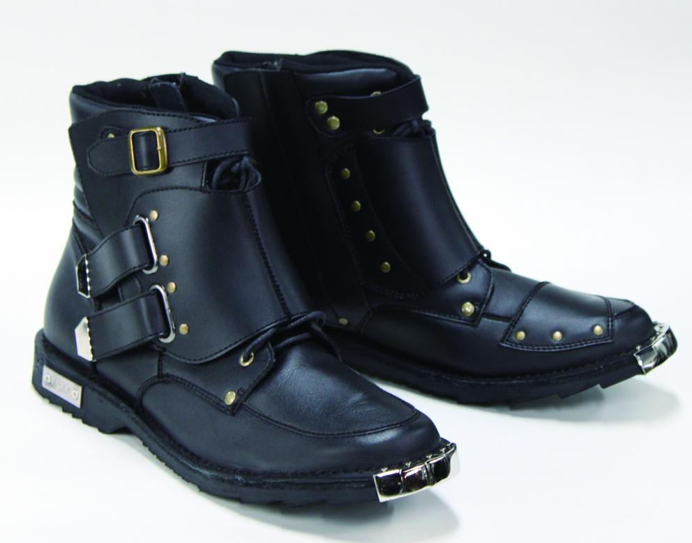 WBBN-02 スピードライドジッパーブーツ 兼光 ブラック 24.5cm 弐黒堂(ニコクドウ)