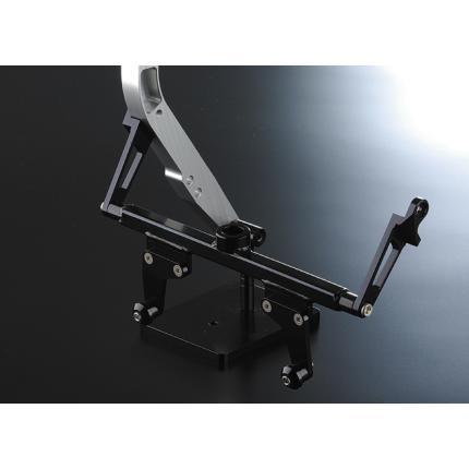 STDラジエーター&オイルクーラーステーKIT ダウンチューブKIT 1用 ブラック NITRO RACING(ナイトロレーシング) GPZ900R Ninja(ニンジャ)