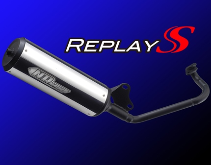アドレスV50(ADDRESS)CA44A Replay Sマフラー【Ecoプライスシリーズ】O2センサーボス付 JMCA認証モデル NRマジック