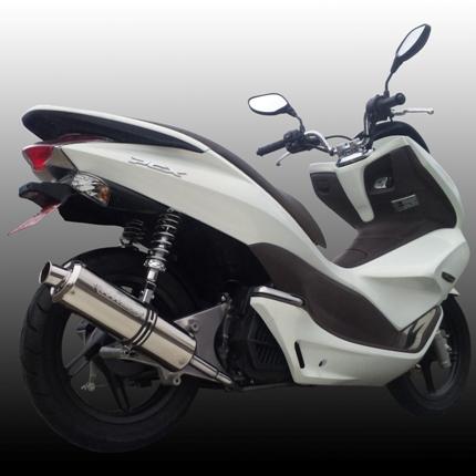 V-SHOCKマフラー(BK/S)ブラック・ステンレス NRマジック(NR MAGIC) PCX125(前期)