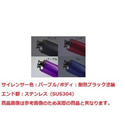 V-SHOCKカラー(BK/PP)マフラー NRマジック ズーマー全年式共通(キャブ/FI可)