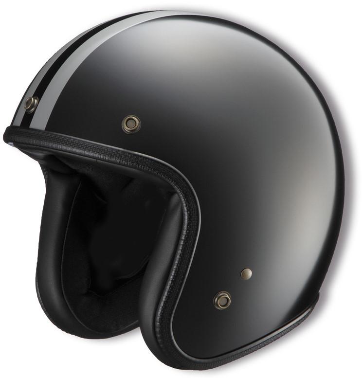 ジェットヘルメット NHL4-03 ブラック フリーサイズ(57-59cm) NIKITOR(ニキトー)