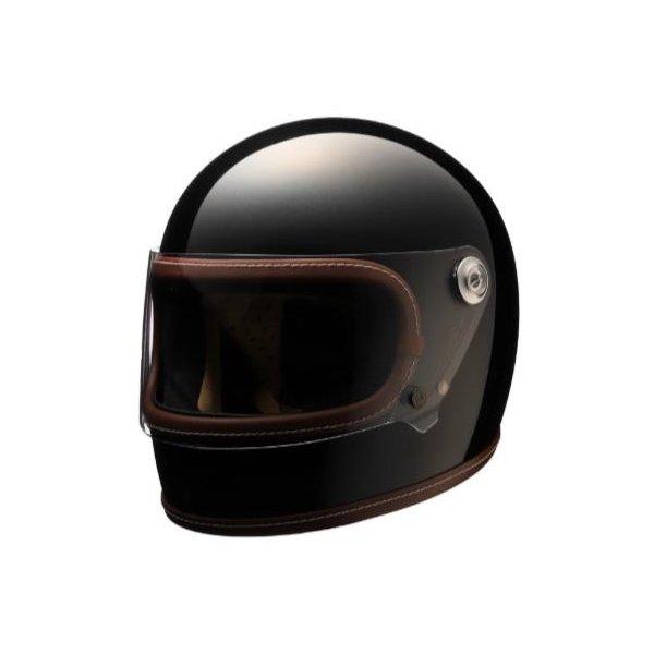 Retro-One ヘルメット グロスブラック Lサイズ NIKITOR(ニキトー)