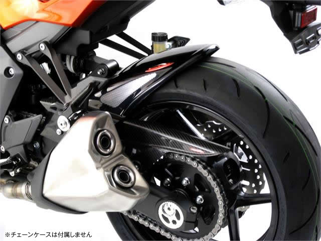 Ninja1000(ニンジャ)14年~ Hugger メッシュド・インナーフェンダー (ブラック/シルバーM タイプA) Powerbronze(パワーブロンズ)