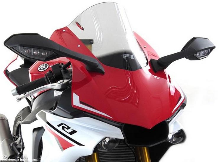 YZF-R1/R1M(15年) スポーツ・スクリーン エアフロータイプ ライトスモーク Powerbronze(パワーブロンズ)