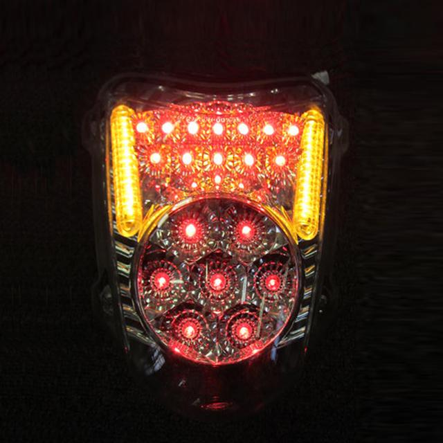 インテグレートテールライト(ウィンカー内蔵式) ライトスモーク ODAX(オダックス) GSX1300R(隼)08~17年