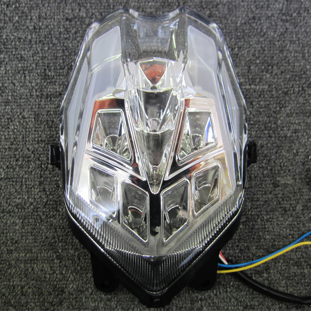 【送料無料】 インテグレート・テールライト(ウィンカー内蔵式) クリア ODAX(オダックス) Triumph デイトナ675/R