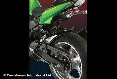 Z750/S(07~10年/S04~07年) Hugger メッシュド・インナーフェンダー(ブラック/シルバーM タイプA) Powerbronze(パワーブロンズ)