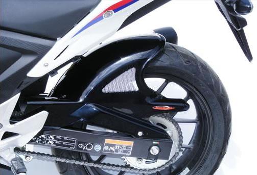 CB400F(13~14年) Hugger メッシュド・インナーフェンダー(ブラック/シルバーM タイプA+C) Powerbronze(パワーブロンズ)