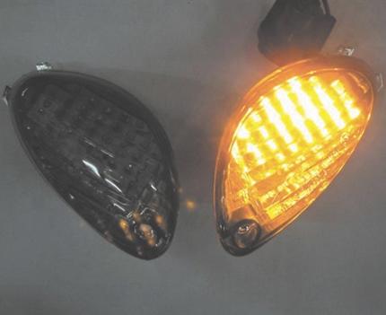 GSX1300R(隼)08~14年 リアウインカーレンズ スモーク LEDバルブセット ODAX(オダックス)
