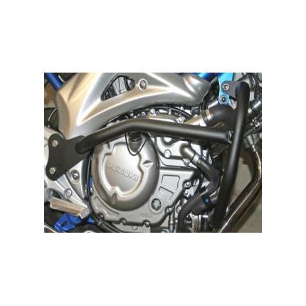 グラディウス650(GLADIUS) エンジンガード スチール製 ブラック レンテック(RENNTEC)