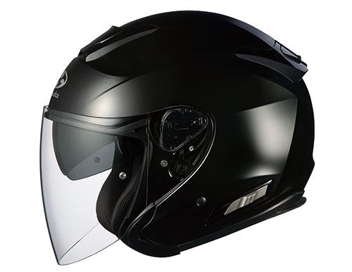 ASAGI(アサギ) ブラックメタリック Lサイズ インナーサンシェード付オープンヘルメット OGK