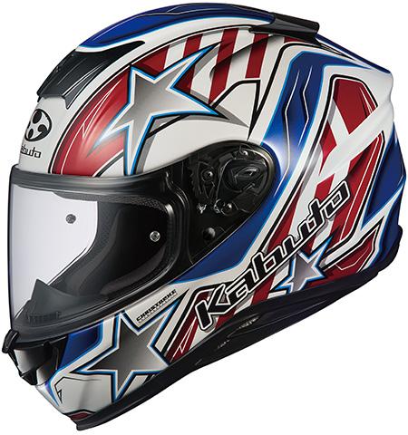 エアロブレード5 ヴィジョン フルフェイスヘルメット ホワイトブルーレッド Lサイズ OGK