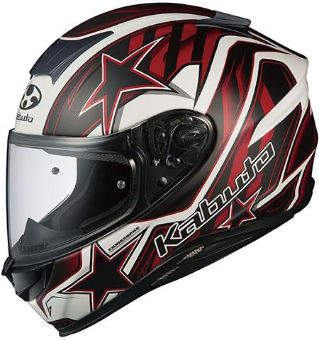 エアロブレード5 ヴィジョン フルフェイスヘルメット フラットブラックレッド Lサイズ OGK