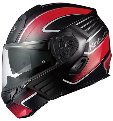カザミ エクセヴァ システムヘルメット フラットブラックレッド Sサイズ OGK