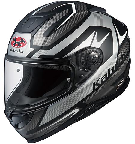 エアロブレードファイブ ラッシュ フルフェイスヘルメット フラットブラックシルバー Lサイズ OGK