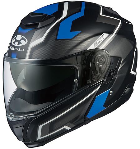 イブキ ダーク システムヘルメット フラットブラックブルー Lサイズ OGK