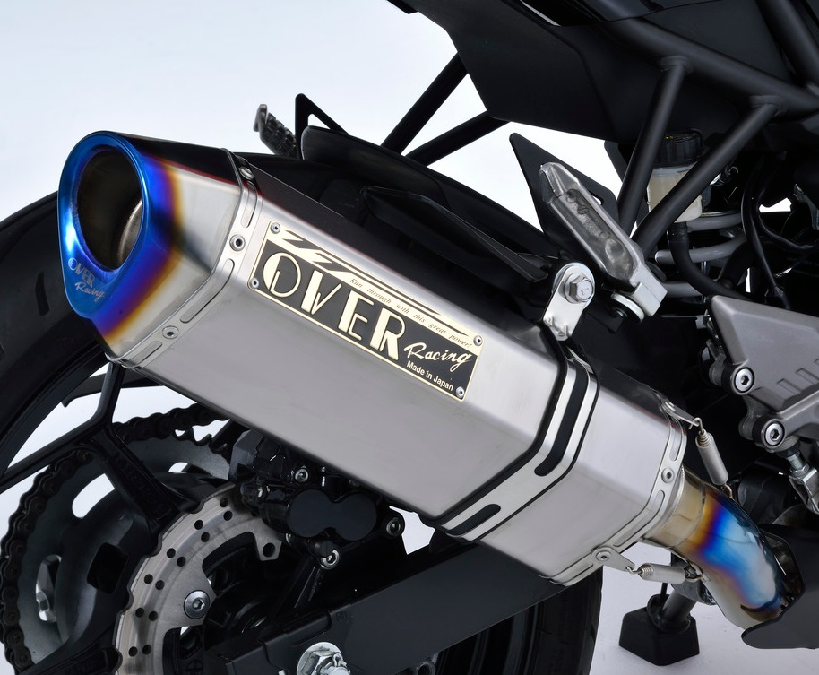 Ninja250SL(ニンジャ250SL)JBK-BX250A TT-Formula RS フルチタン スリップオンマフラー OVER(オーバーレーシング)