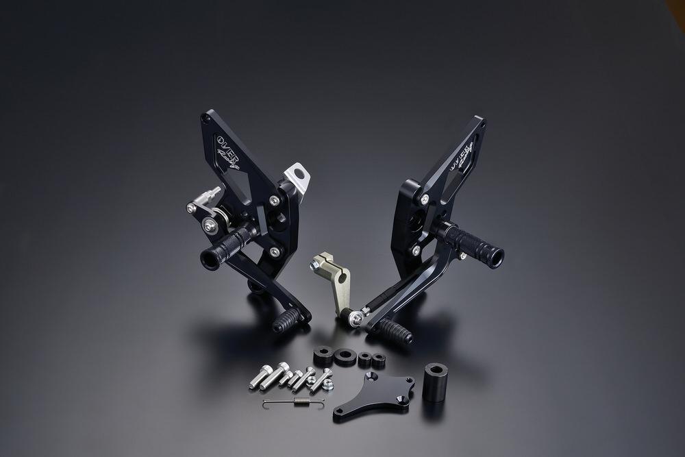 バックステップ 4ポジション ブラック OVER(オーバーレーシング) モンキー125(2BJ-JB02)