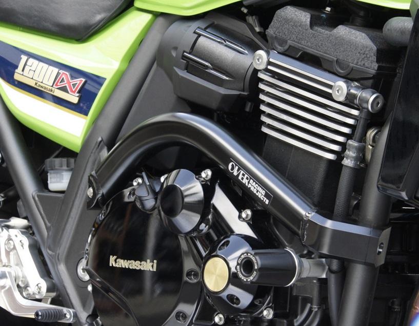 XJR1300(99年~) サブフレームキット ブラック OVER(オーバーレーシング)