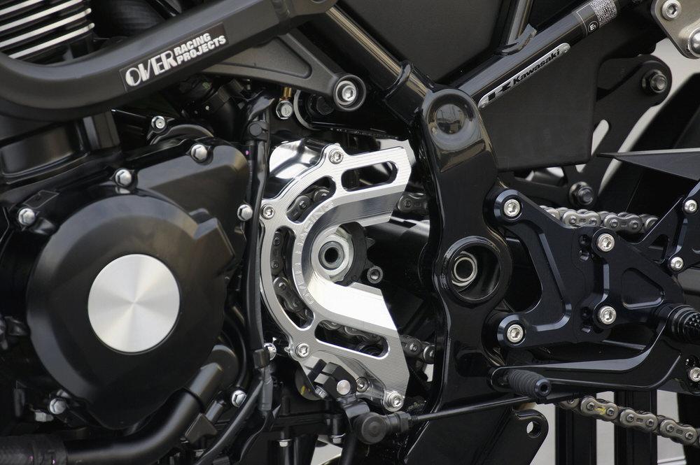 スプロケットカバー チェンジアシスト付 ブラック OVER(オーバーレーシング) Z900RS