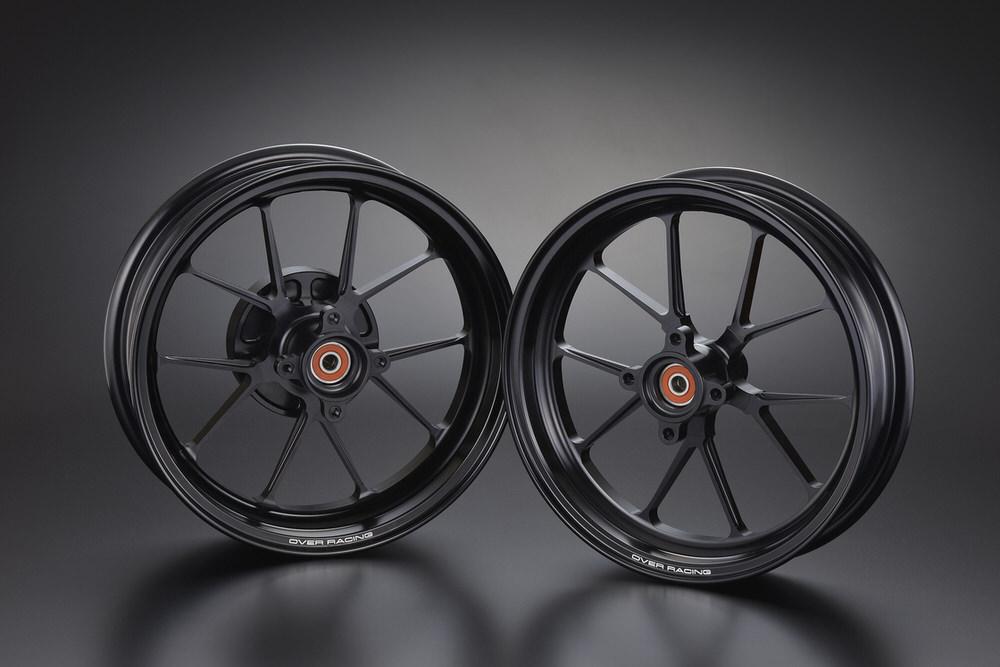 GP-TEN ホイールセット ブラック 2.70/3.50-12 OVER(オーバーレーシング) モンキー125(2BJ-JB02)