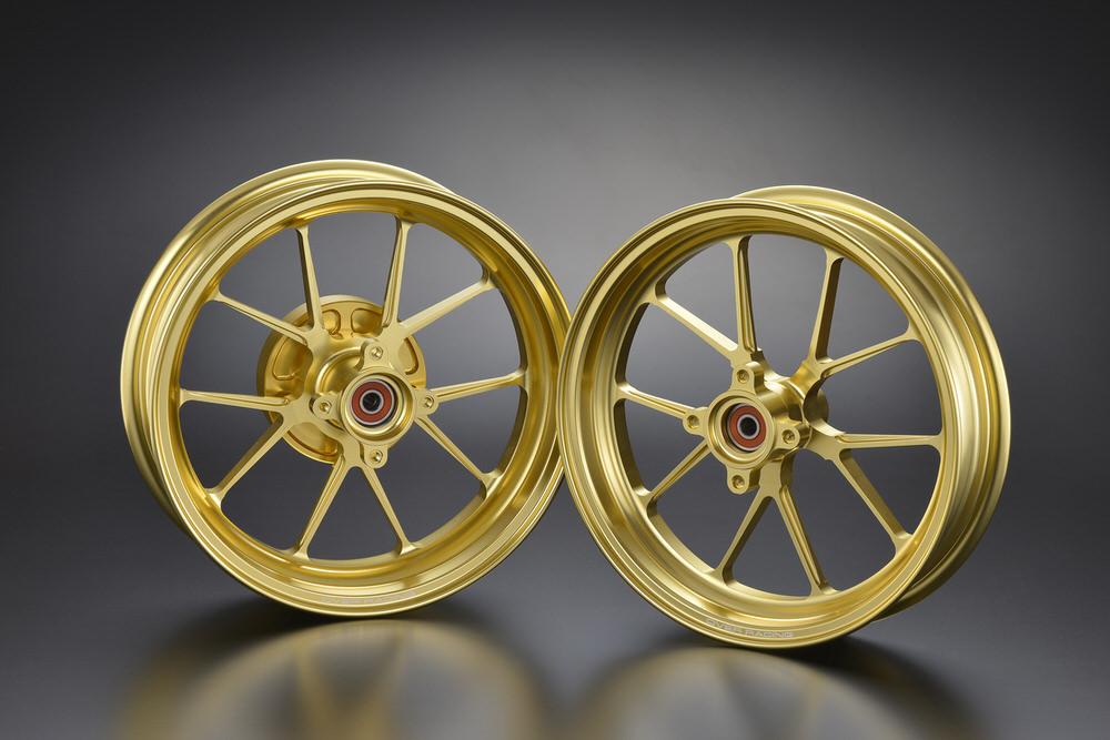 GP-TEN ホイールセット ゴールド 2.70/3.50-12 OVER(オーバーレーシング) モンキー125(2BJ-JB02)
