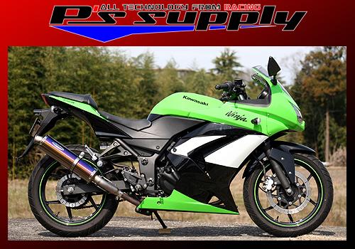 A-MAX スリップオン チタンテールパイプ・RG(ラウンドグラデーション)チタンサイレンサー P's SUPPLY(ピーズサプライ) Ninja250R