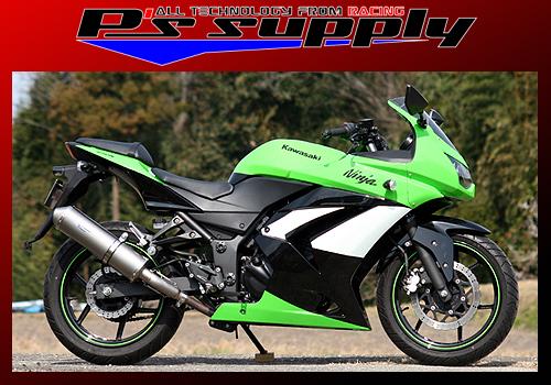 A-MAX スリップオン チタンテールパイプ・チタンオーバルサイレンサー P's SUPPLY(ピーズサプライ) Ninja250R