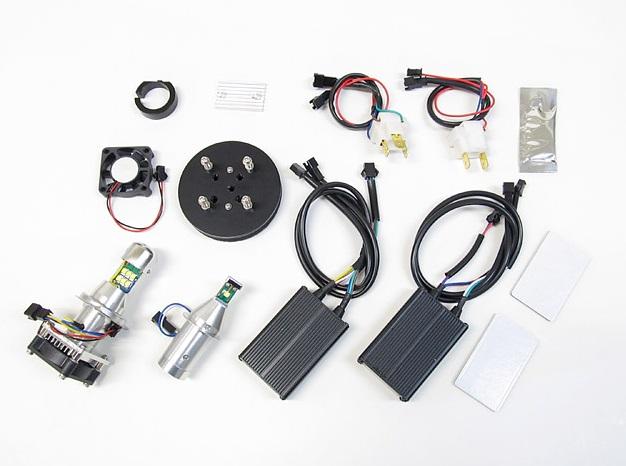 TMAX LBW-TM LEDヘッドライトバルブキット H7(Lo)&H4(Hi/Lo)6000K PROTEC(プロテック)