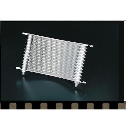 ラウンドオイルクーラーコアシルバー塗装 13段用/ホースサイズ#6 PLOT(プロト)