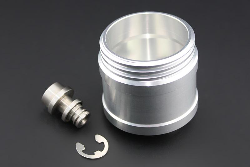 ビレットマスターシリンダーカップ リモートホースタイプ対応 Type-1 シルバー ビレット アルミキャップ付 ブラック PMC(ピーエムシー)