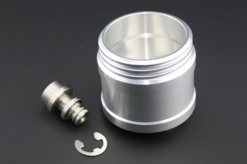 ビレットマスターシリンダーカップ リモートホースタイプ対応 Type-1 ブラック ビレット アルミキャップ付 ブラック PMC(ピーエムシー)
