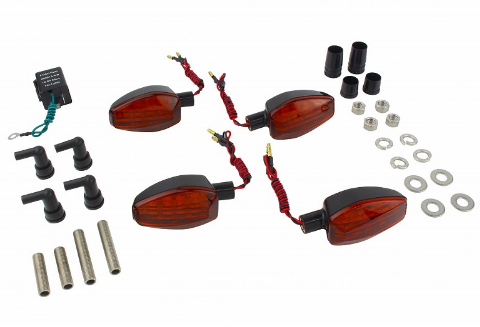 ライトウェイトLEDウインカーキット ブラックボディ/オレンジレンズ POSH(ポッシュ) GSX250R(17~18年)