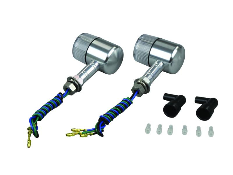 アルミマシンドウインカー 71タイプ ロングステータイプ シルバー/クリア ダブル球仕様 POSH(ポッシュ)