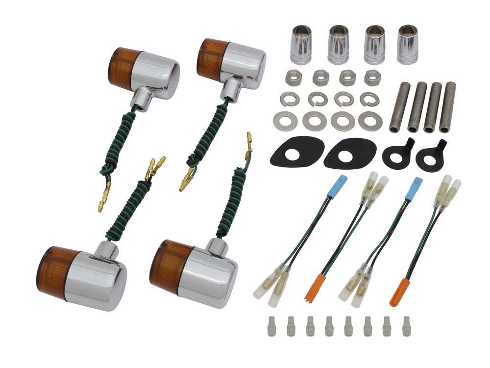 ボルトオンウインカーキット クラシカル71タイプ メッキ/オレンジレンズ POSH(ポッシュ) CB400SF SPEC3(06~07年)