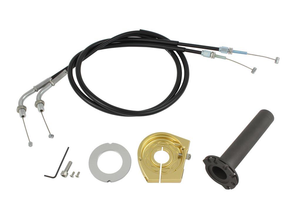 スムーススリムラインハイスロットルキット シャンパンゴールド POSH(ポッシュ) CB400SFSPEC-2/3