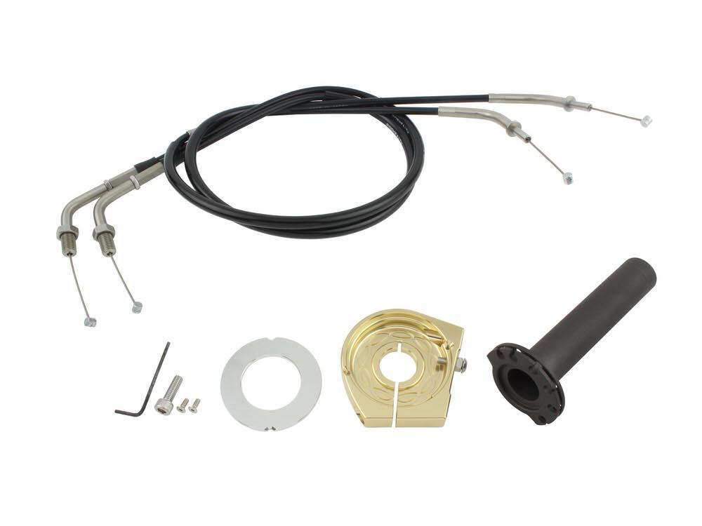 スムーススリムラインハイスロットルキット シャンパンゴールド POSH(ポッシュ) ZRX1200 DAEG(ダエグ)