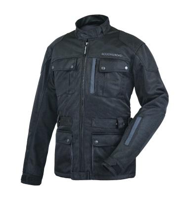 RR7327 トレックメッシュジャケット ブラック/シルバー LLサイズ ラフアンドロード(Rough&Road)
