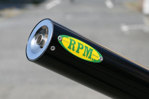 250TR(キャブ車)~06年 250Singleマフラー アルミサイレンサーブラックアルマイト RPM