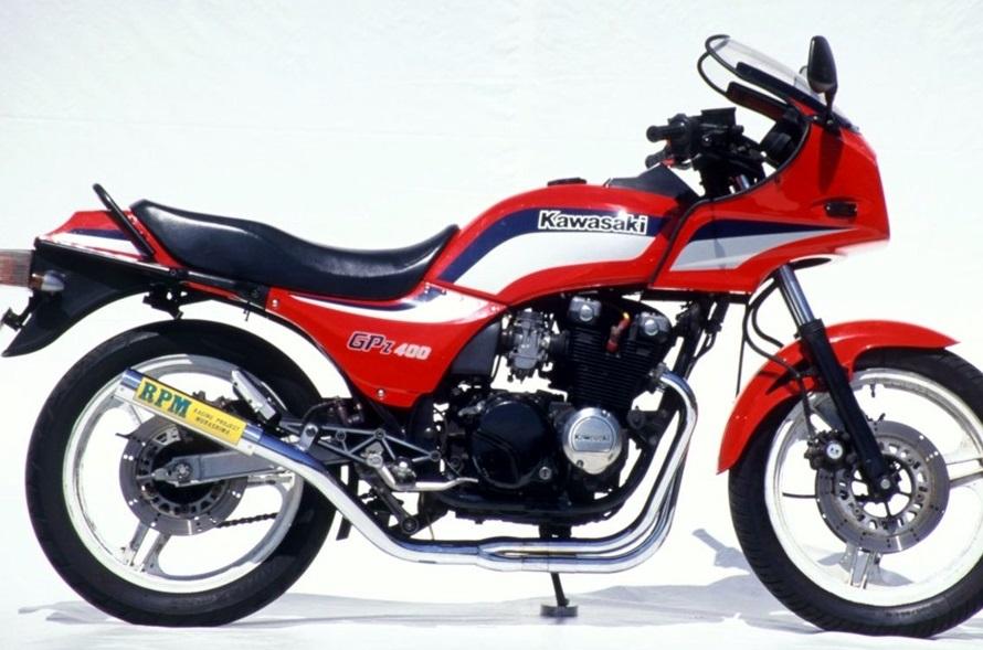 GPZ400F(F2)83年~ RPM-67Racing(レーシング)マフラー(ステンレスサイレンサーカバー) RPM