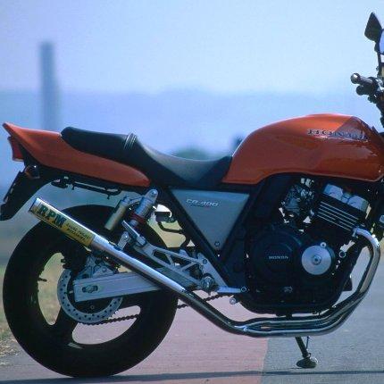 RPM-4-2-1マフラー(ステンレスサイレンサーカバー)JMCA認定タイプ RPM CB400SF(R&S) 92~99年