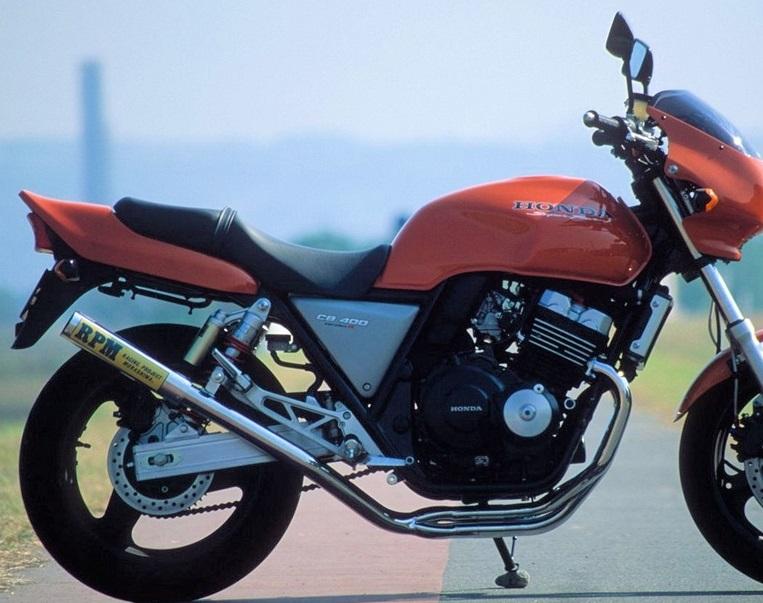CB400SF(STD)92~99年 RPM-67Racing(レーシング)マフラー(ステンレスサイレンサーカバー) RPM