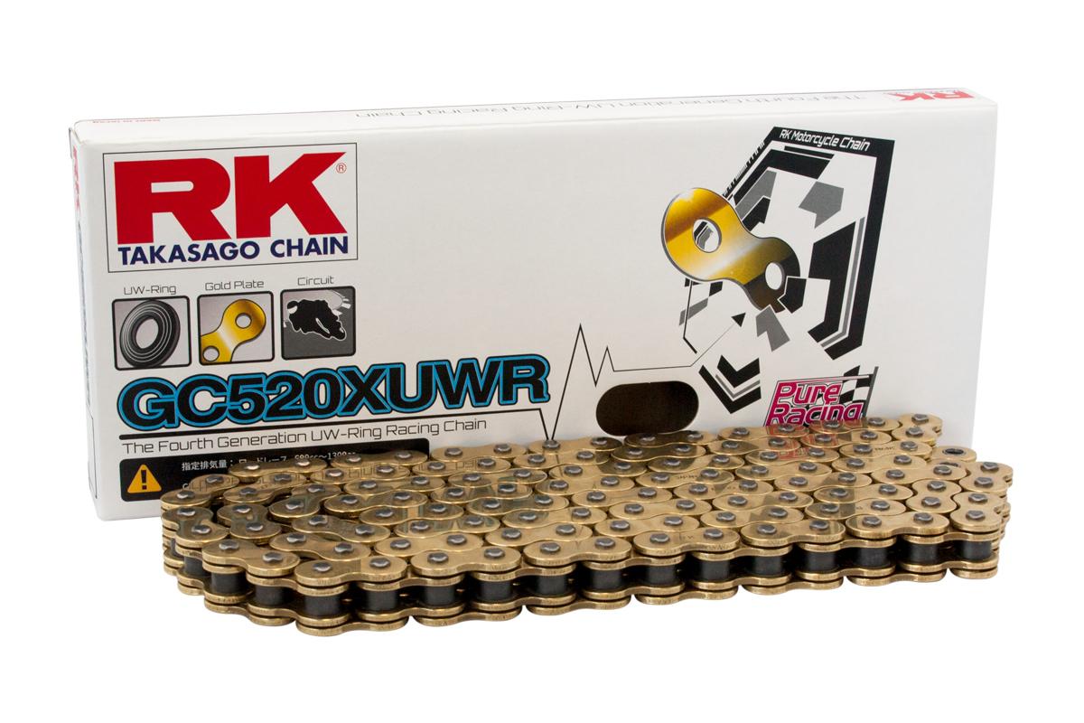 XUWRオンロードレーシングシリーズ GC520-100 シールチェーン ゴールドメッキ RK
