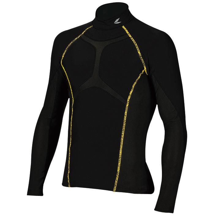 RSU265 クールライド スポーツ アンダーシャツ ブラック 3XLサイズ RSタイチ(RSTAICHI)