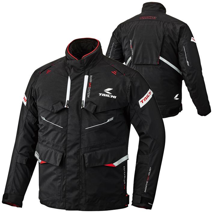 RSJ709 DRYMASTER フロンティア オールシーズン ジャケット ブラック/レッド 3XLサイズ RSタイチ(RSTAICHI)